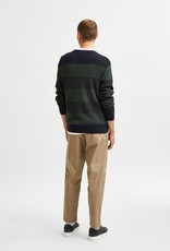 SELECTED HOMME Slhchase LS Knit Crew Urban Chic/Dark Grey