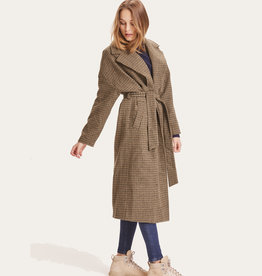 KNOWLEDGECOTTON APPERAL POPPY WOOL LABEL COAT - GRS