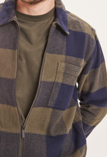 KNOWLEDGECOTTON APPERAL Pine Checked Heavy Flannel Overeshirt - GOTS/VEGAN Forrest Night