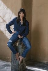 KUYICHI Nora Loose tapered Hemp Blue Repaired