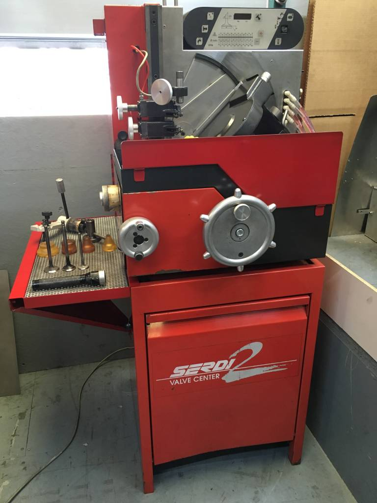 Serdi 2 Vertical valve re-facing machine for sale    SOLD