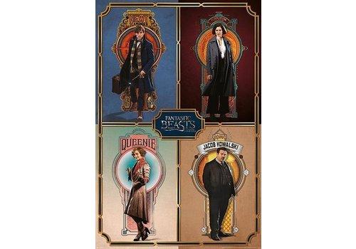 Poster 119    Fantastic beasts framed cast