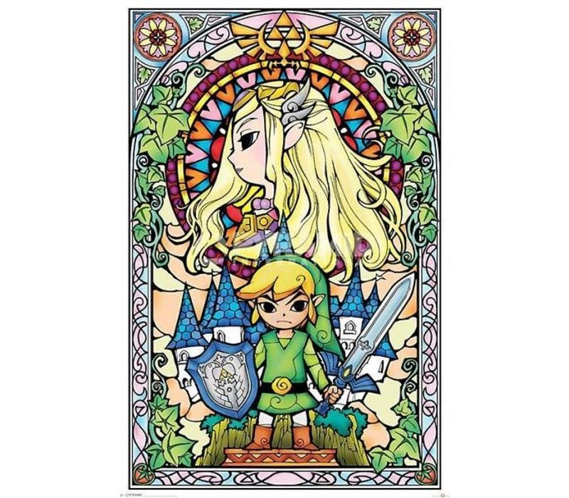 Poster |  THE LEGEND OF ZELDA STAINED GLASS