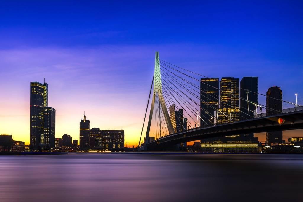 Nieuwe Rotterdam skyline foto's