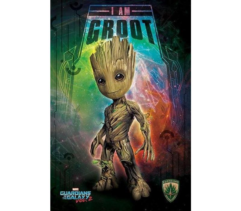 Poster |  GUARDIANS OF THE GALAXY VOL. 2 I AM GROOT SPACE