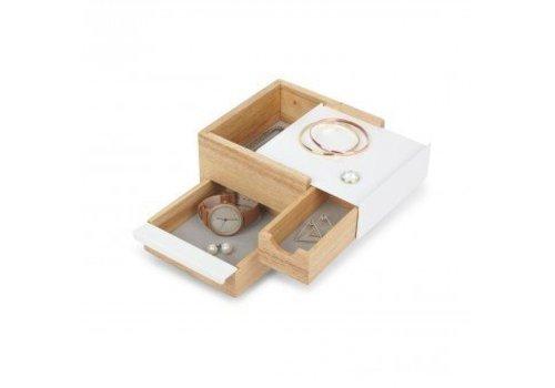Mini stowit juwelry box natural/white