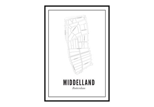 Wijck Poster A4 - Middelland