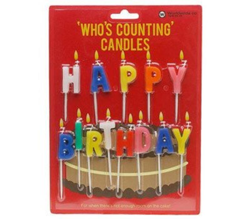 Happy Birthday - Who's counting candles - Taartkaarsjes