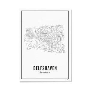 Wijck Poster A4 -Delfshaven