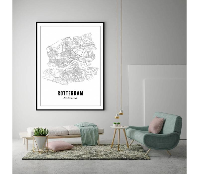 A4 Poster Rotterdam stad