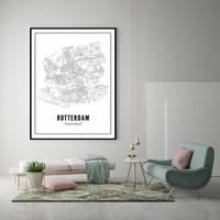 30x40 Poster Rotterdam stad