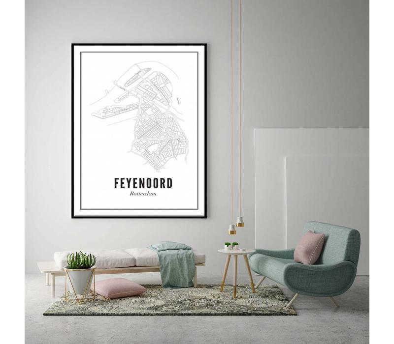Poster 50x70 - Feijenoord