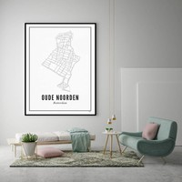 Poster 50x70 - Oude Noorden