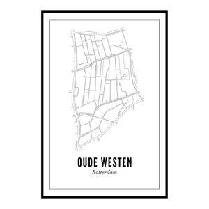 Wijck Poster A4 - Oude Westen