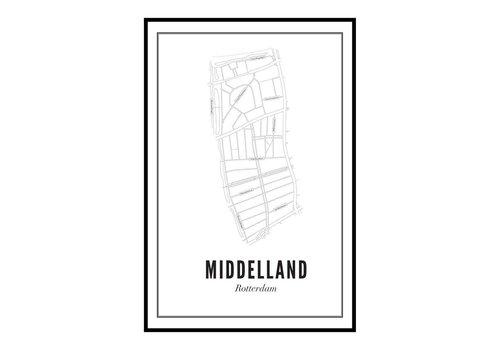 Wijck Poster 50x70 - Middelland