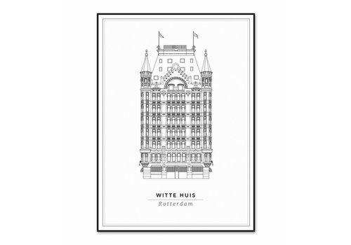 Cityprints Het Witte huis 30x40cm