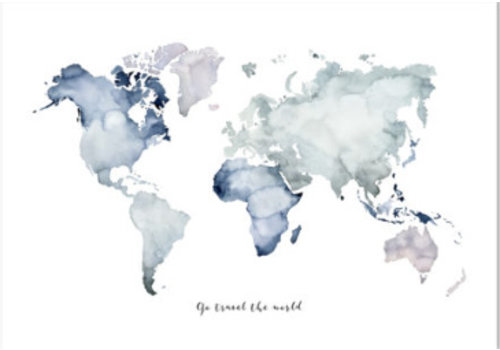 Leo La Douce Artprint A4 - Go travel the world