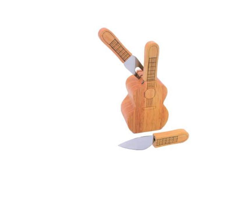 Kaasmesjes set in gitaar blok