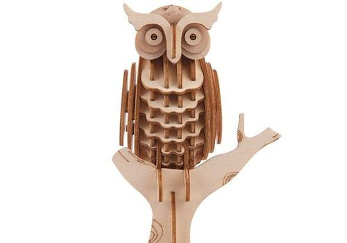 Kikkerland 3D houten puzzel uil