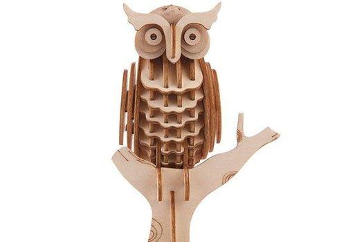 Kikkerland 3D wooden owl