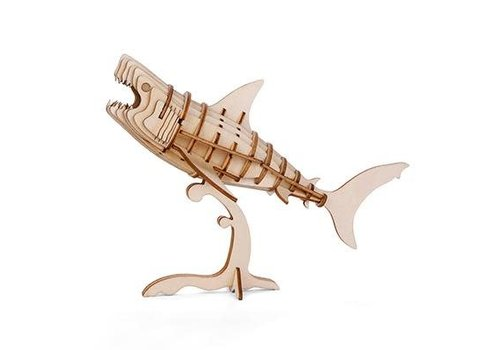 Kikkerland 3D wooden shark