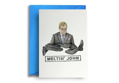 Quite Good Cards Melting' John