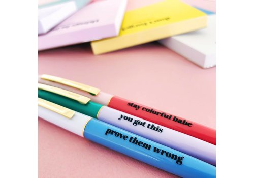 Stay colourfull Balpen set van 3