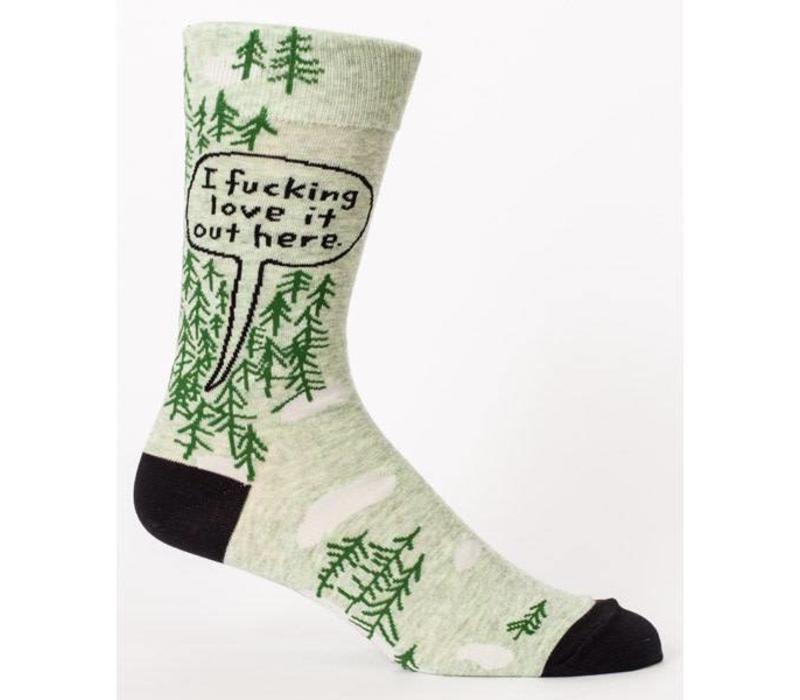 Men Socks - I fucking love it out here