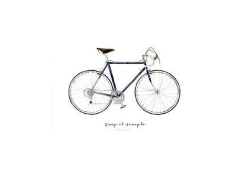 Leo La Douce Artprint A4 - Keep it simple - Bicycle No.1