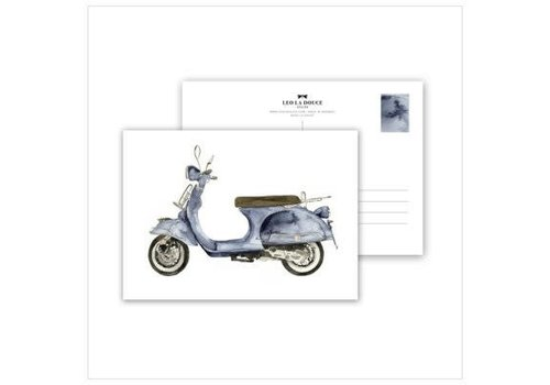 Leo La Douce Artprint A3 - Blue Scooter