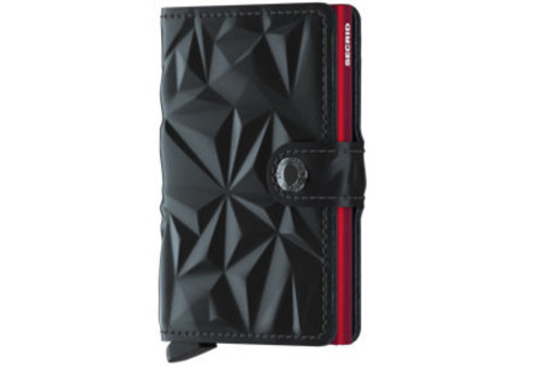 Secrid Miniwallet prism black-red