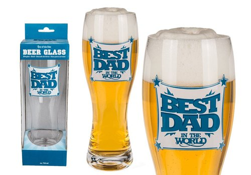 "XL Bierglas ""Best Dad in the world"""