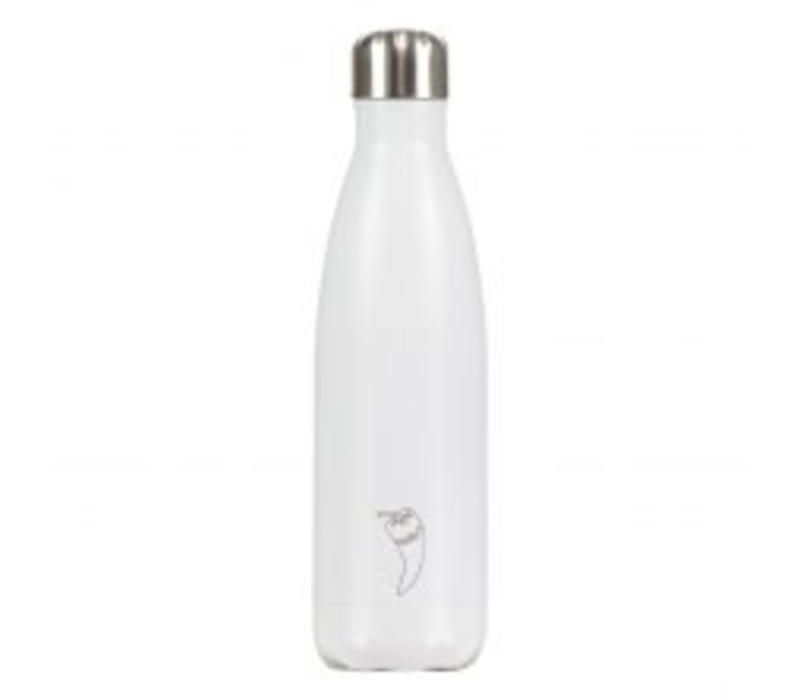 Chilly's waterfles 500ml wit mat