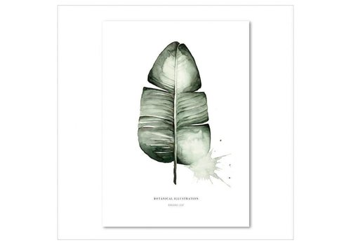 Leo La Douce Artprint A2 - Banana leaf