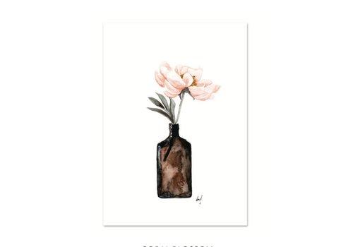Leo La Douce Artprint A3 - Coral Blossom