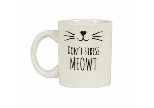 Sass & Belle Cat's whiskers don't stress mug