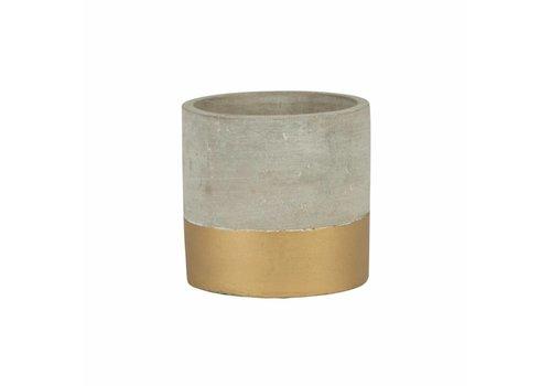 Sass & Belle Tuva gold dip cement mini planter