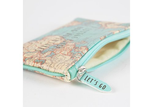 Sass & Belle Vintage map little purse for big adventures