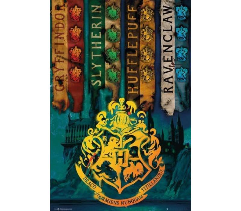 Poster |  HARRY POTTER HOUSE FLAGS