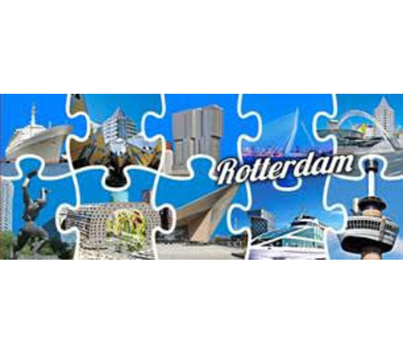 Panorama magneet met puzzelstukjes
