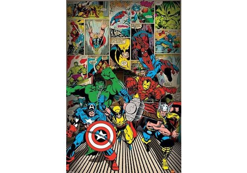 Poster    marvel here come the heroes