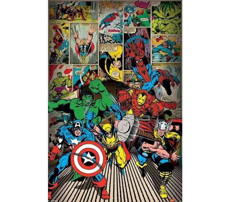 Poster |  marvel here come the heroes