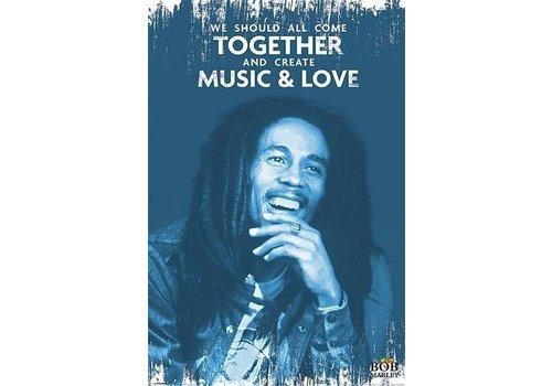 Poster |  BOB MARLEY - MUSIC & LOVE