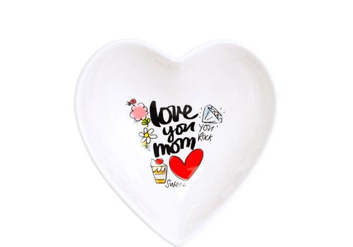 BLOND AMSTERDAM Heart Bowl 16,5c, Love you mum