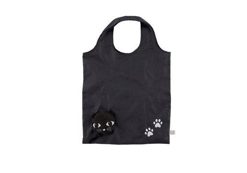 Sass & Belle Black Cat Foldable Shopping Bag