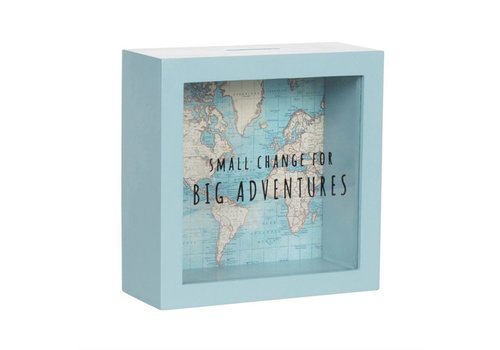 Sass & Belle Spaarpot Vintage map Big adventures