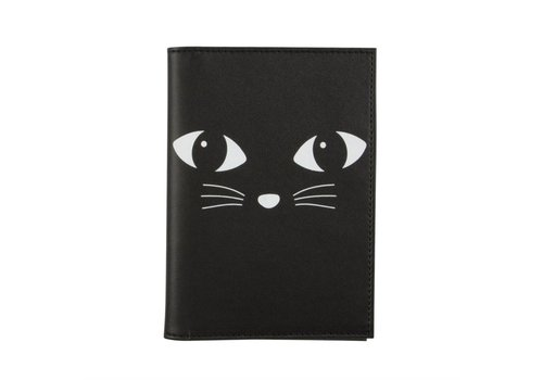Sass & Belle Black Cat Passport holder