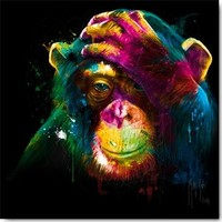 Chimpansee kleur 30x30