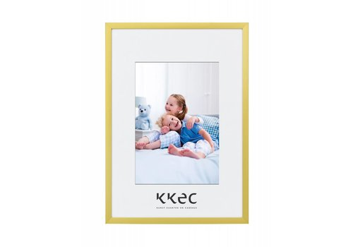 KKEC lijsten Aluminium lijst mat goud – 18x24cm