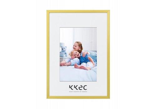 KKEC lijsten Aluminium lijst mat goud – 24x30cm